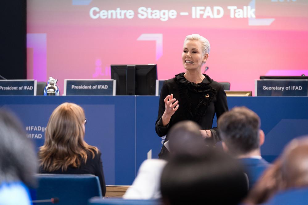 Gunhild Stordalen, Présidente exécutive de la Fondation EAT, au Conseil des gouverneurs du FIDA