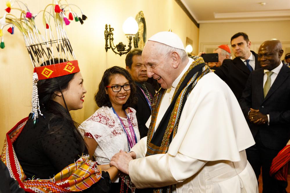 Le Pape rencontre les peuples autochtones au Conseil des gouverneurs du FIDA