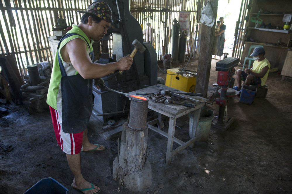 Roland Bongtiwon is a blacksmith from Kiangan, in the province of Ifugao in the mountainous Cordillera Administrative Region of the Philippines