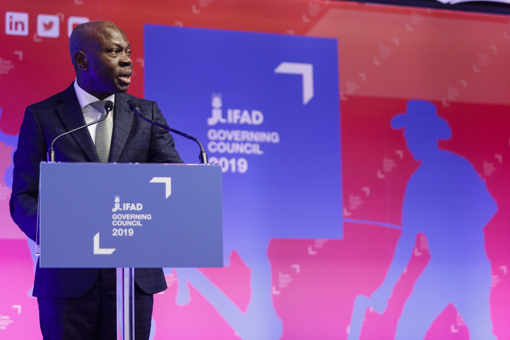 Rome, le 14 février 2019, Italie, siège de la FAO, 42e session du Conseil des gouverneurs du FIDA, Discours du Président du FIDA Gilbert Houngbo
